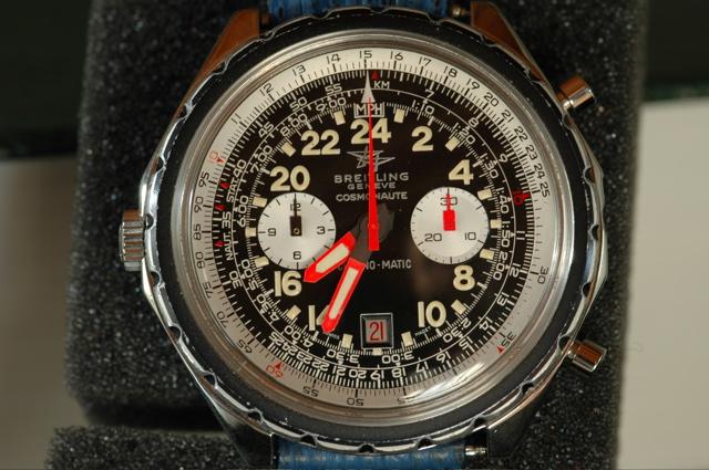 Originální verze Breitling Cosmonaute, kterou měl Carpenter při letu na sobě