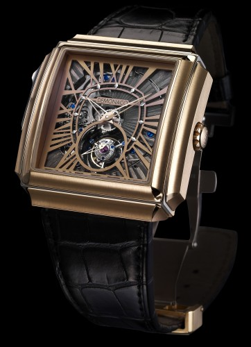 Carré d''Or Squelette Grand Tourbillon Répétition Minute